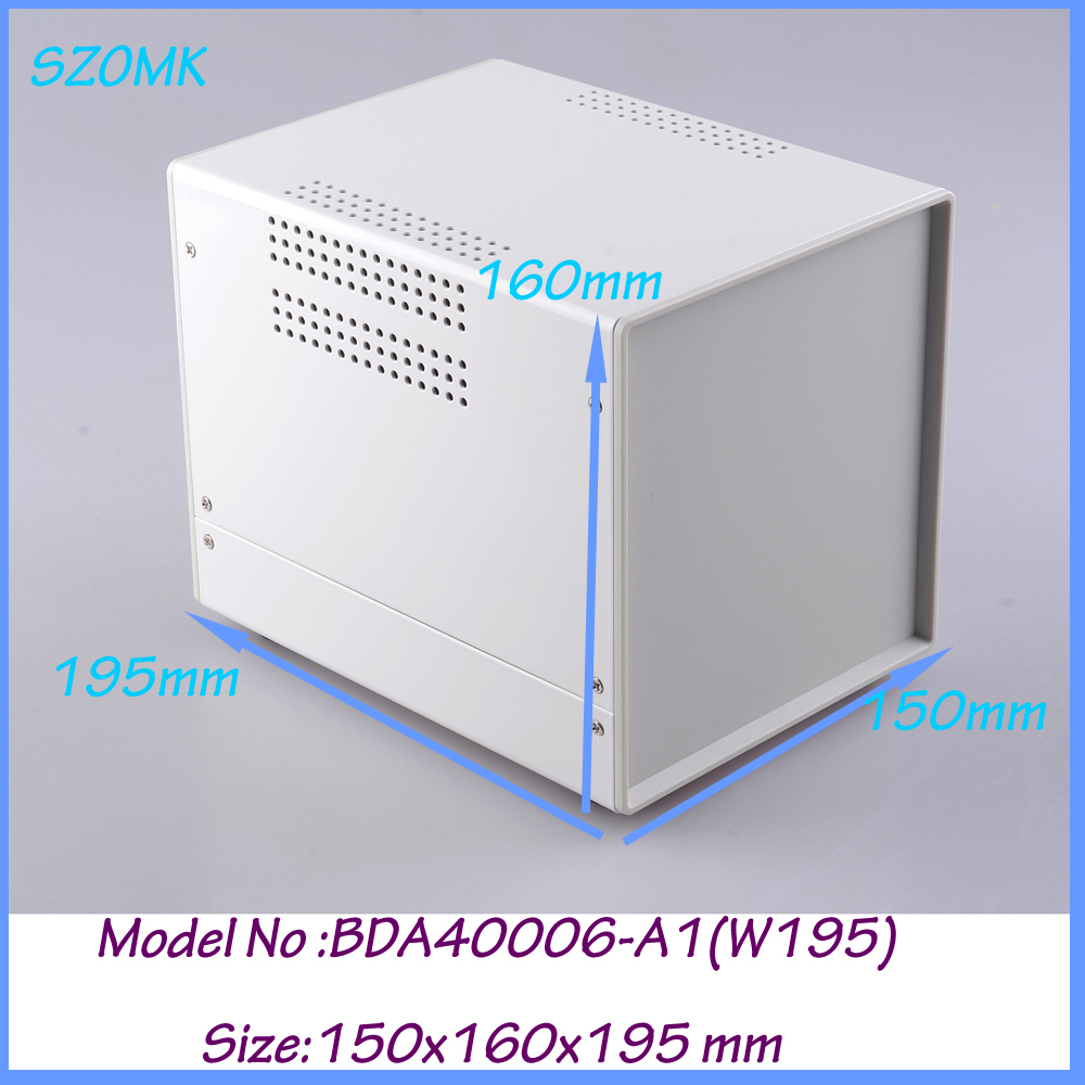 1 piece electronics aluminum case diy aluminium case 150x160x195 mm diy aluminium case aluminum enclosure box aluminium housing metal electronics box diy aluminum enclosure ygs 036 96 45 5 140mm wxh d