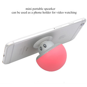 Image 2 - חדש אלחוטי Bluetooth מיני רמקול פטריות עמיד למים סיליקון יניקה Handfree מחזיק נגן מוסיקה עבור Iphone אנדרואיד