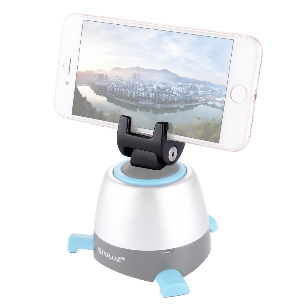 PULUZ Tripod Phone Mount Metal Clamp For 360 Degree Rotation Panoramic Head 1 4 Screw Ballhead Mount in Tripod Heads from Consumer Electronics