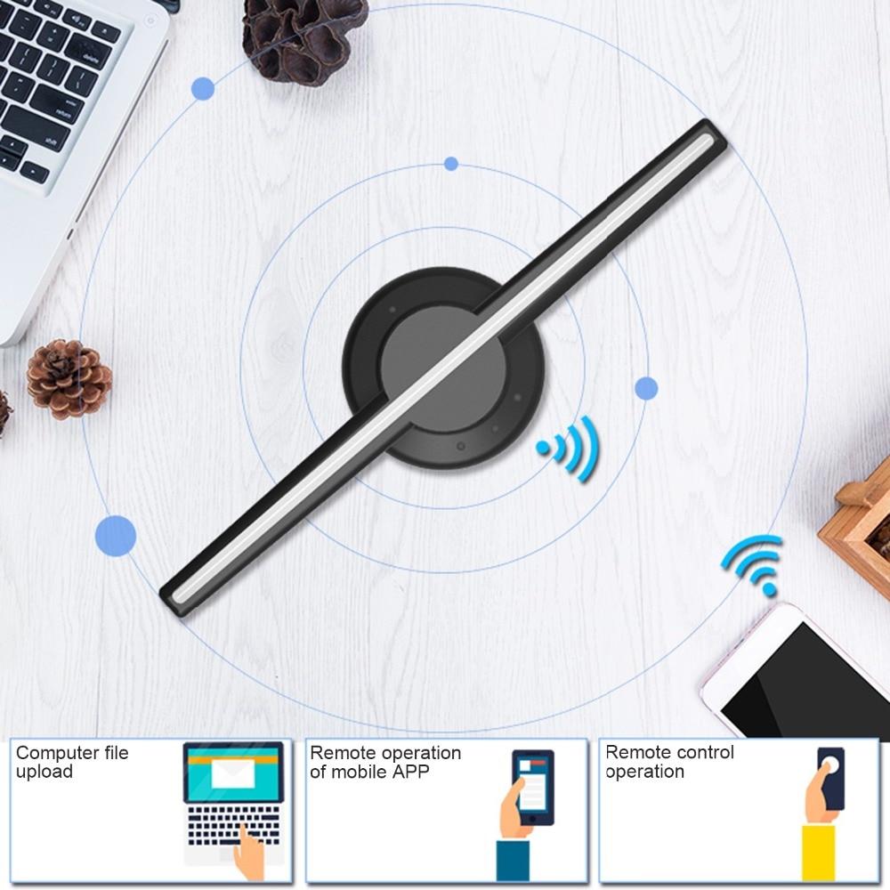 3D hologramme publicité affichage ventilateur LED holographique imagerie à l'œil nu ventilateur LED s publicité joueur Machine - 3