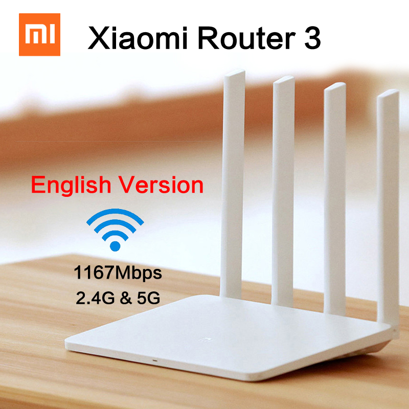 Original English Xiaomi Mi WIFI Router 3 1167Mbps WiFi Repeater 2 4G 5GHz 128MB ROM Dual
