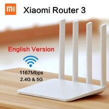 Оригинальный английский xiaomi mi wi-fi маршрутизатор 3 1167 мбит wi-fi ретранслятор 2.4 Г/5 ГГц 128 МБ ROM Dual Band APP Управления Wi-fi Беспроводной маршрутизаторы