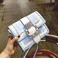 Women Luxury Designer Diamond Pearl Bags Famous Brand Ladies Chains Locks Shoulder Bag Personality High Quality