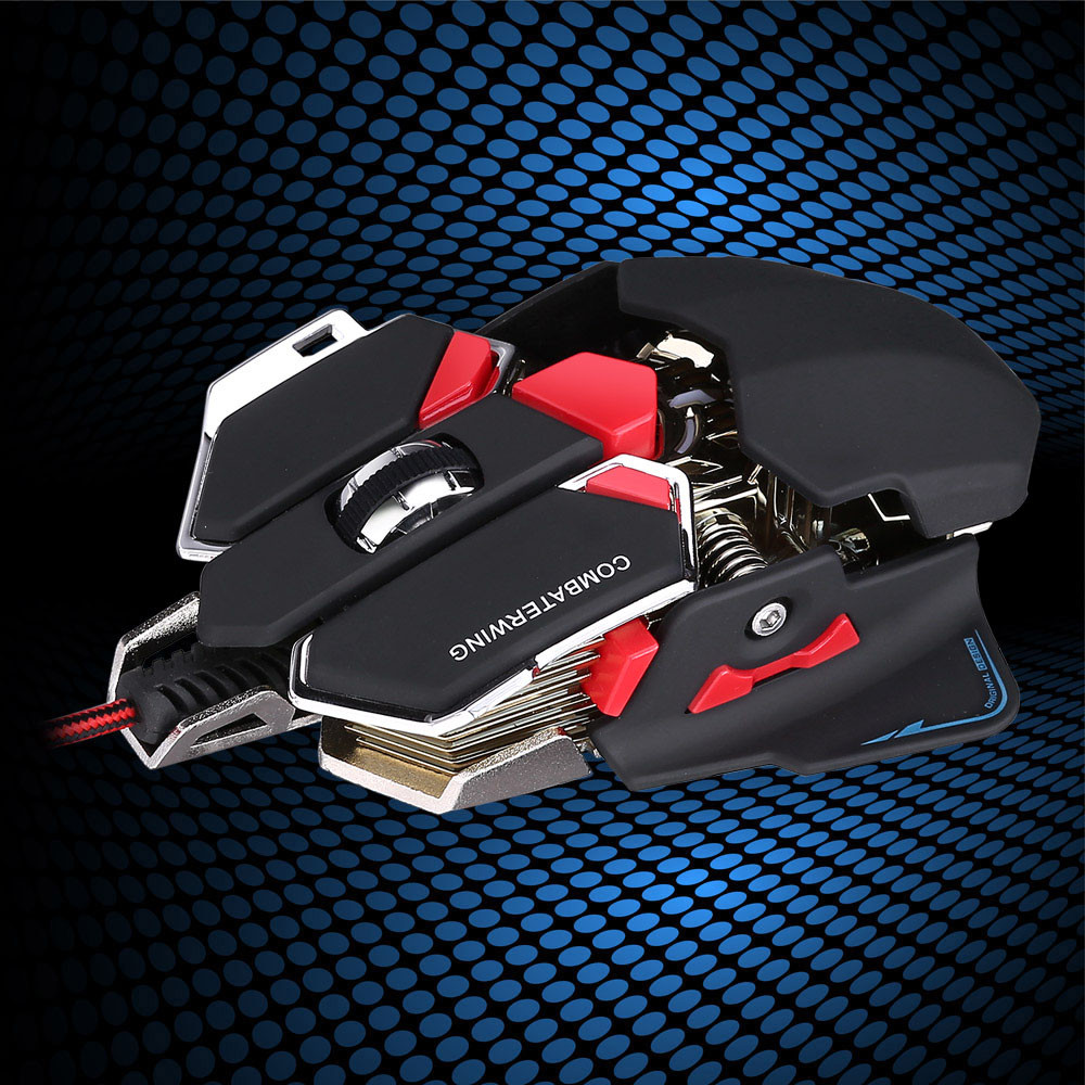 Malloom 2017 Pro Gamer 4800 DPI Optical USB Wired Gaming Mouse gamer sem fio Mice For Laptop PC Computer peripherals Office
