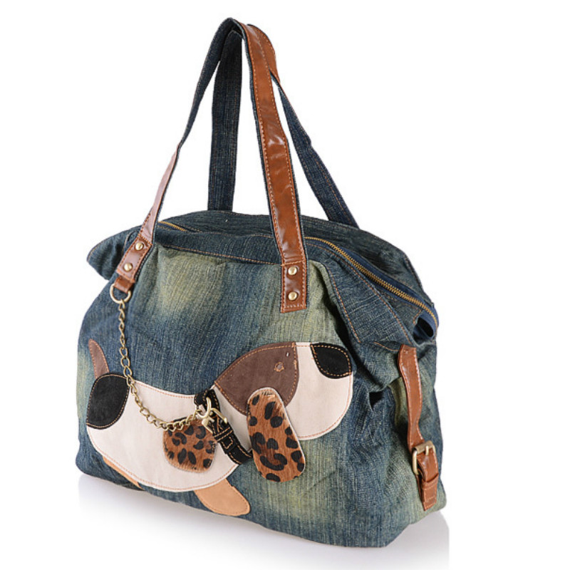 2018 New Ladies Korean Version of The Atmosphere Casual Fashion Dog Cowboy Portable Shoulder Bag Hot Sale