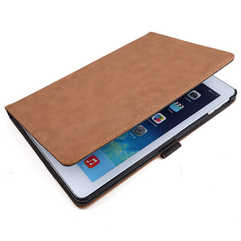 Luxury Tablet Case For New ipad 2017 2018 Fashion Retro Matte PU Leather Folding Folio Stand Case Cover For ipad Air 1 Air 2 (2)