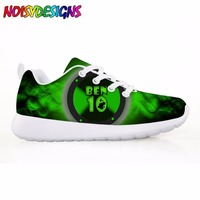 Fashion 3D Ben 10 Printing Children's Sneakers Casual Comfortable Kids Shoes for Boys Girls Flats Lace up Light Student