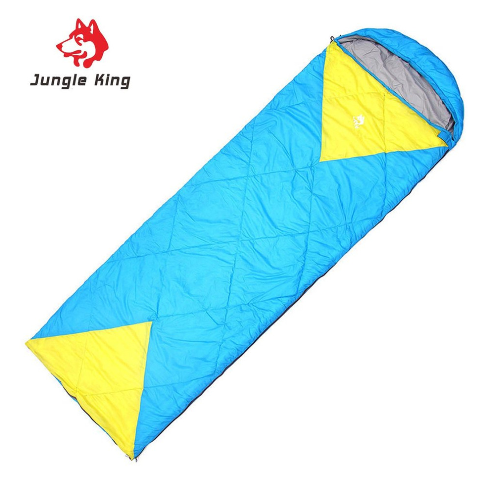 Jungle King Windproof Warm Sleeping Bag Camping Hiking Waterproof Nylon Outdoor Drawstring Hood Comfortable Sleeping Bag Bed
