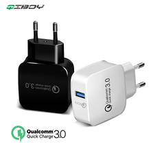 QC 3.0 USB Charger Quick Charge Wall EU US Plug Adapter For iphone 7 8 Fast Charging For Huawei P20 Pro Samsung Xiaomi Universal цены