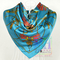 2015 women's fashion satin scarf big square silk scarf girl summer suncreen cape pashmina red blue orange scarf 90*90cm 20 color