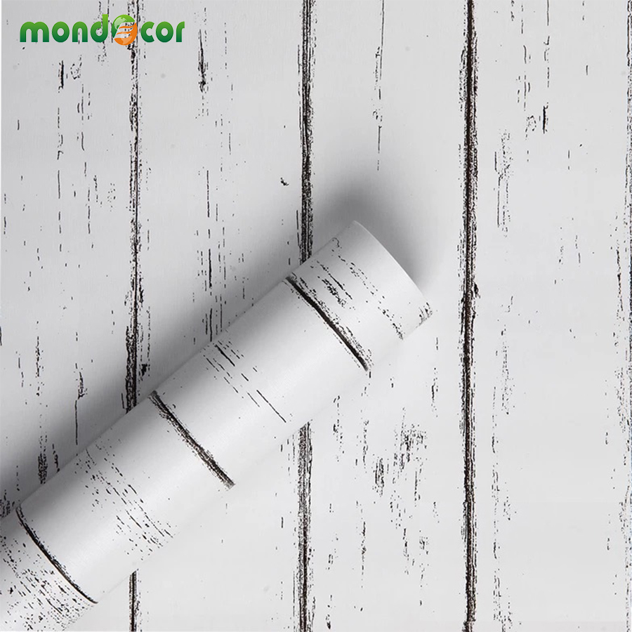 Vintage PVC Waterproof Self Adhesive Wallpaper Kitchen Cabinets Shelf Liner Peel And Stick Wall Sticker Vinyl Contact Paper Wood