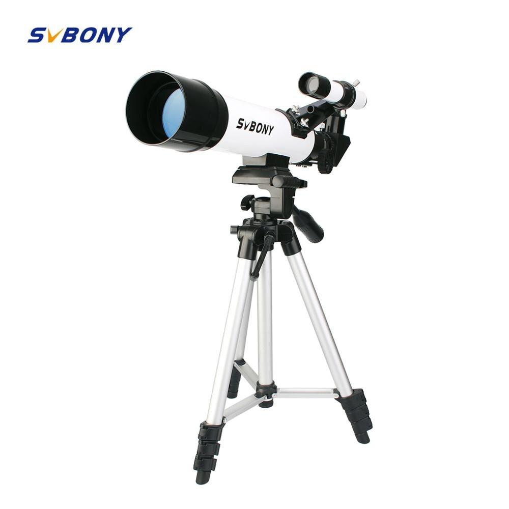 SVBONY SV25 Astronomia Telescópio Refrator 60420 milímetros com Montagem de Tripé De Viagem Profissional Lua Astronomia Observação de Aves Iniciantes