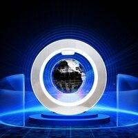 Novelty O Shape LED Floating Globe Tellurion Magnetic Levitation Light World Map With LED Light US
