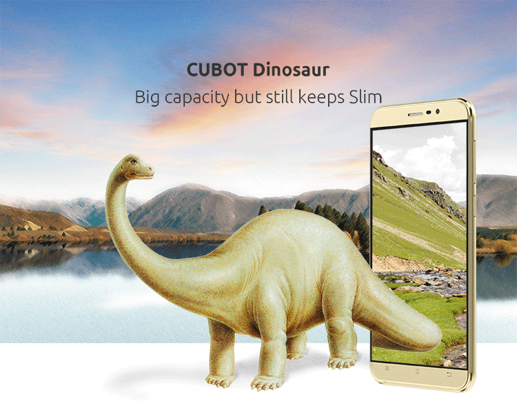 CUBOT DINOSAUR 3GB RAM MTK6735A 1.3GHz Quad Core 5.5 Inch IPS HD Screen Android 6.0 4G LTE Smartphone