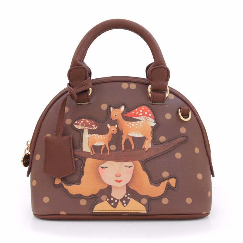 2016 Princess New Women Sweet Bags Girl Prints Mori Vintage Print  Dot Deer Messenger Shoulder Bags