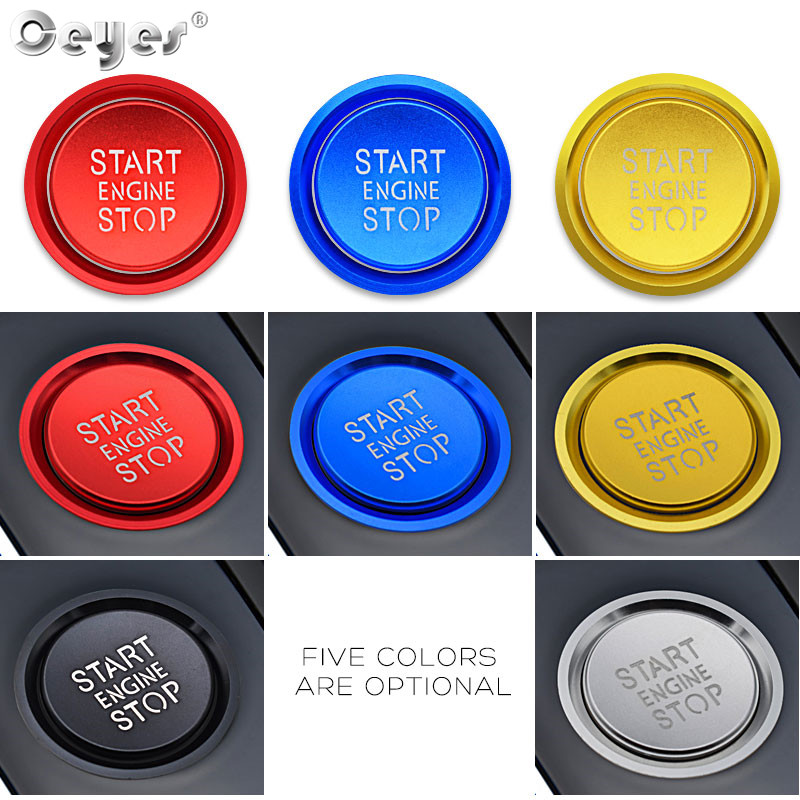 Image 3 - Ceyes Car Styling Sticker Accessories Ring Auto Engine Start Stop Button Cover Case For Audi A6 B8 A6L Q5 8R A4 C7 B9 A7 BT 2018-in Car Stickers from Automobiles & Motorcycles