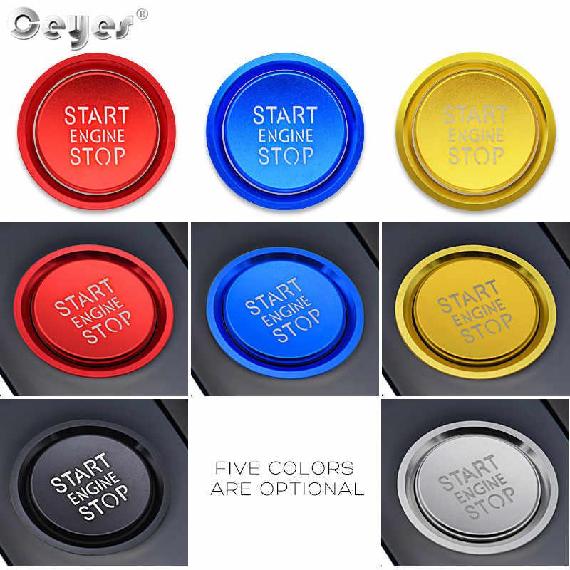 Lfldmj Car Styling Sticker Anello Auto Engine Start Stop Button Cover Case per Audi a4 b8 b9 a6 4f c7 q3 q5 s3 a3 8v 8p 8l