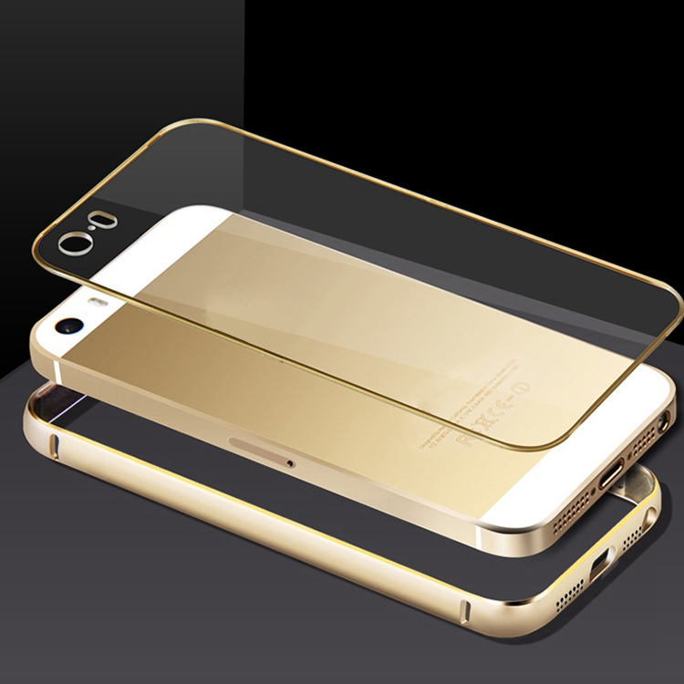 Capa Para Iphone 5 5s Luxury Aluminum Skin+PC Clear Back Cover Phone Cases Case New Mobile Bags - REDSTORE INT'L TRADING CO LTD store