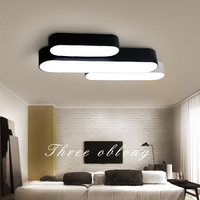 LED living room ceiling light combination fixtures rectangular creative ceiling lamps office modern minimalist ceiling lighting