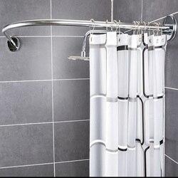 Бесплатная занавеска для душа + Изогнутые Угловые душевая кабина бесплатная Пробивка telescopi изогнутая ванная комната подвесные занавески то...