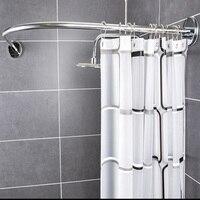 Tự do tắm + Cong góc màn tắm cần giá rẻ đấm telescopi cong phòng tắm Rèm treo dày chống thấm nước