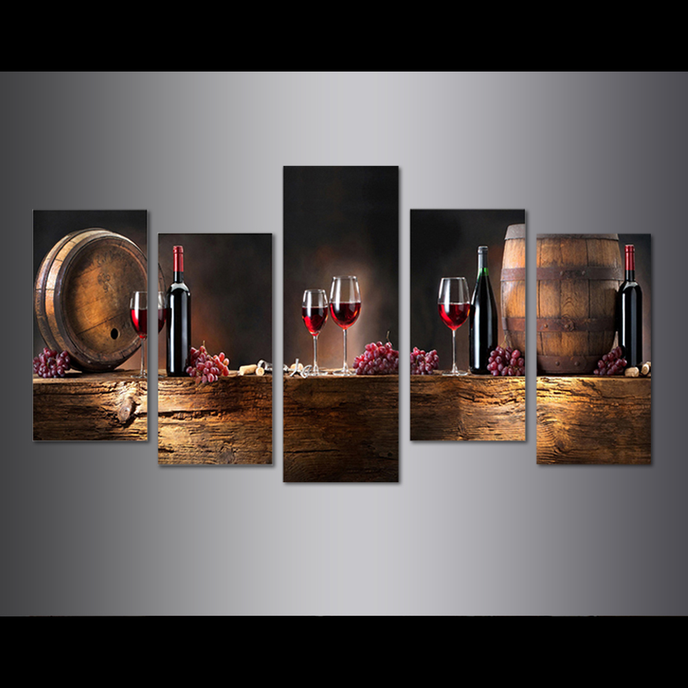 Unframed Canvas Prints Red Wine Barrel Giclee Wall Decor Prints Wall Pictures For Living Room Wall Art Decoration Dropshipping