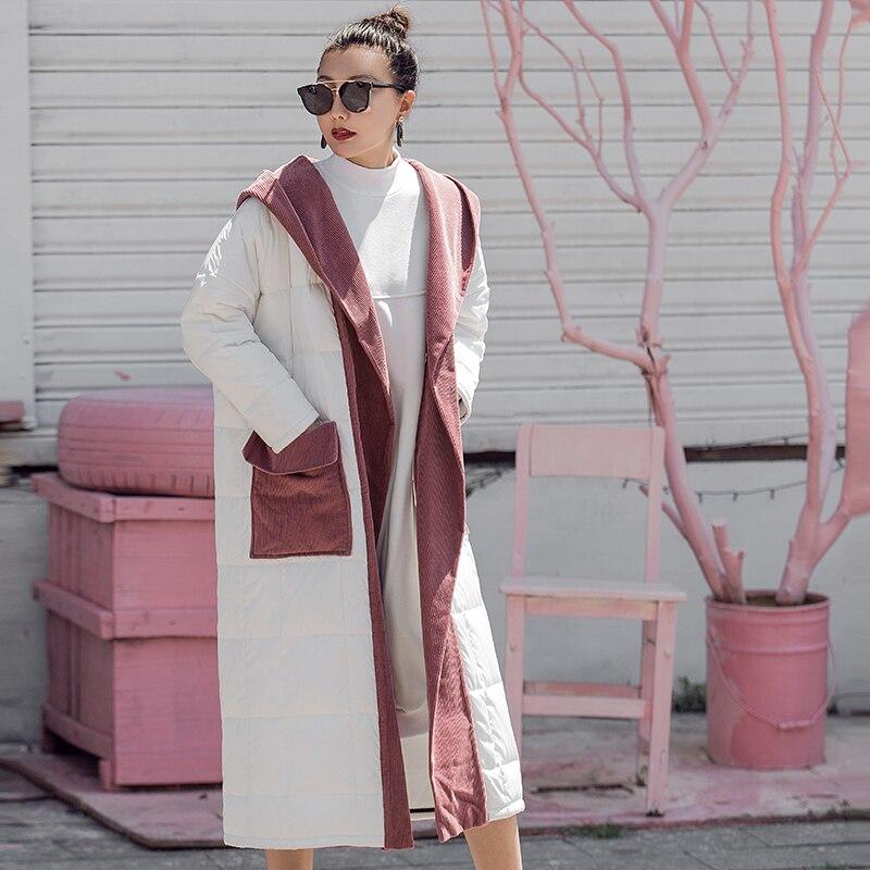 VERRAGEE 2018 new women winter vintage long patchwork retro casual cotton-padded jacket   Parka   coat