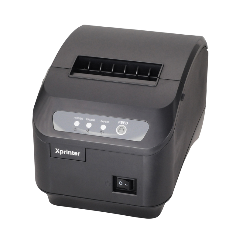 E-EMS freeshipping 80mm thermal receipt printer XP-200II automatic cutting machine printing speed LAN interface 200 mm / s