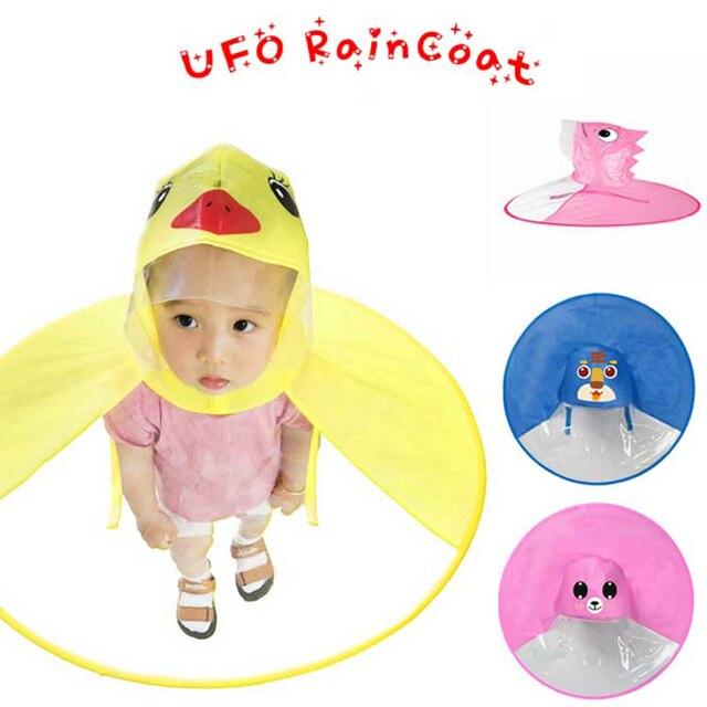 UFO детский плащ Милая желтая утка водонепроницаемый чехол от дождя для детей чехол зонтика девочка мальчик дождевик Детское Пончо Плащ