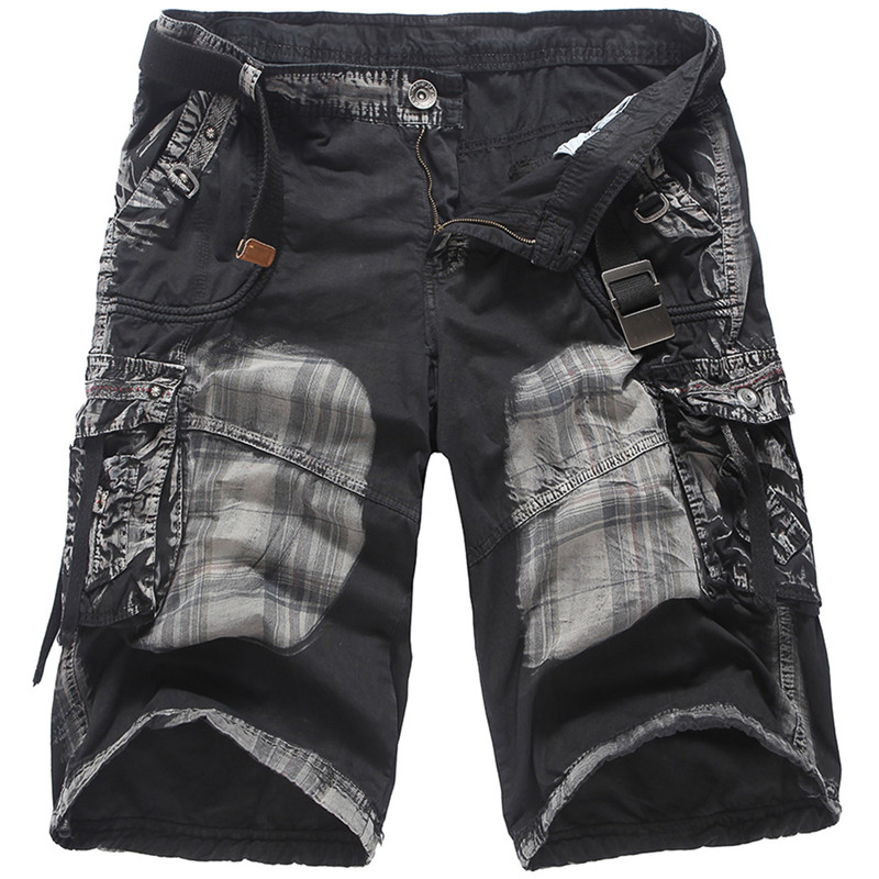 Military Cargo Shorts New Men Summer Camouflage 100% Cotton Shorts Brand Clothing Comfortable Men Tractical Loose Work Shorts