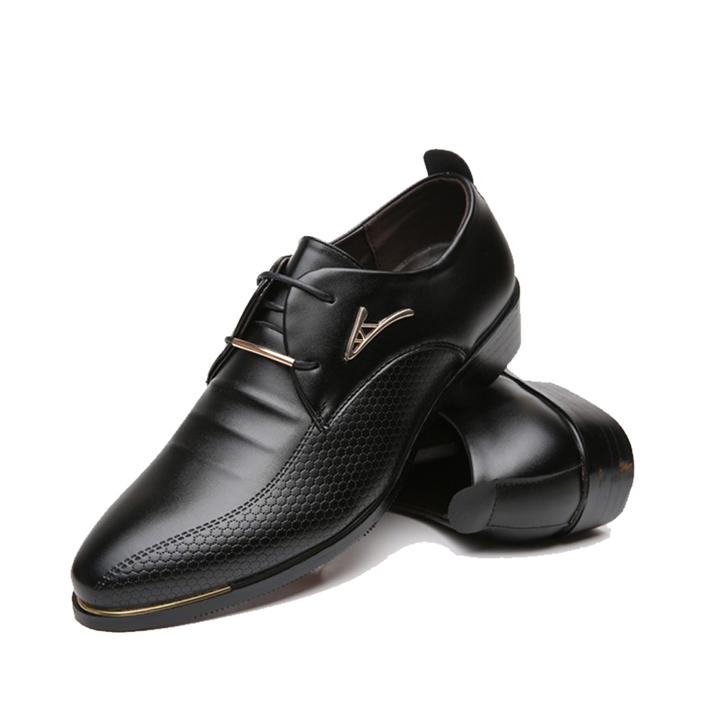 chaussures en cuir homme de la mode bout pointu formelle de mariage chaussures hommes appartements chaussures habillées fNceH