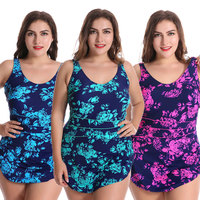 Woman Plus size Swimsuit One Piece M 2XL Floral Swimwear Big Bathing Suit Beach For Women Swimming Girl 11730006