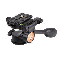 QZSD Q08 Aluminum Video Tripod Ball Head 3 Way Fluid Head Rocker Arm With Quick Release