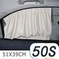2Pcs/set New Black beige gray  Cotton Fabric Car Auto 50S UV Protection Side Window Curtain Sunshade Set 51 x 39cm freeshipping