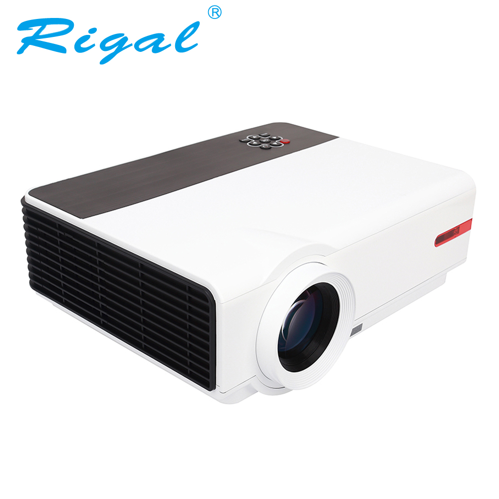 Rigal Projector RD808A LED WIFI Android HD Projector 3200Lumen 3D Beamer 1280*800 Home Cinema Theatre LCD HDMI VGA USB TV Beamer mini led projector 800x400 1000 lumen home cinema theaters w wifi android os hdmi usb sd av vga 3 5mm black white