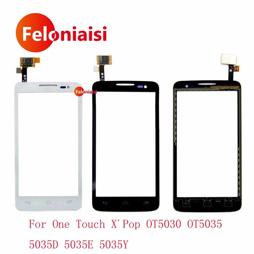 4.5 Pour Alcatel One Touch X'Pop OT5030 OT5035 5035D 5035E 5035Y Écran Tactile Digitizer Capteur Avant Lentille En Verre Panneau + de suivi