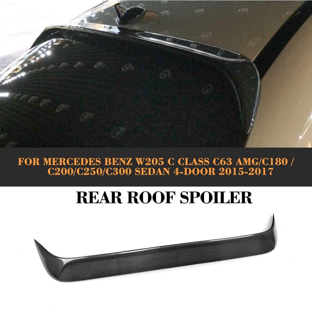 C Class Carbon Fiber Rear Roof spoiler Window wing For Mercedes Benz W205 Sedan 4 Door Only 15-17 C63 AMG C200 C250 C180 fit for mercedes benz c w205 c180l c200l c63 amg carbon fiber rear spoiler rear wing
