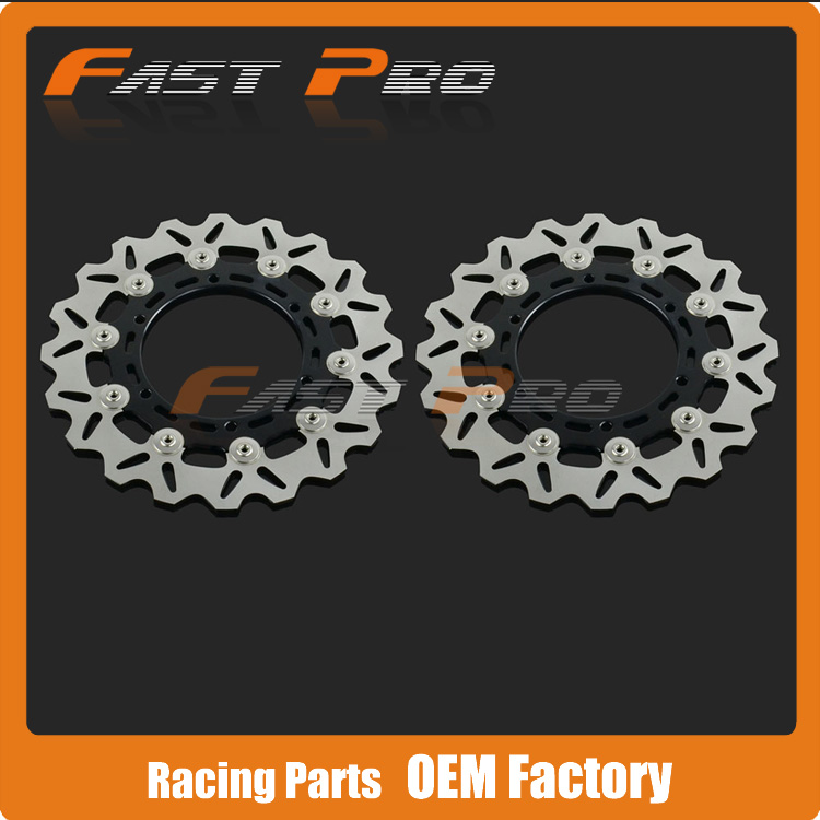 1 Pair Front Brake Disc Rotor For Yamaha XJ6N YZF600 TDM900 YZF1000 YZF R1 R6 FZ1000S Fazer XJR1300 V-MAX XVS1300 XV1700 XV1900 mfs motor motorcycle part front rear brake discs rotor for yamaha yzf r6 2003 2004 2005 yzfr6 03 04 05 gold