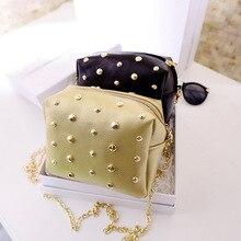 Neue Kleine Frauen Flap Messenger Bags Mini Kette Nietbeutel Leder Handtaschen Damen Handtasche Bolsa Feminina Bolsas Weiblichen Handtasche