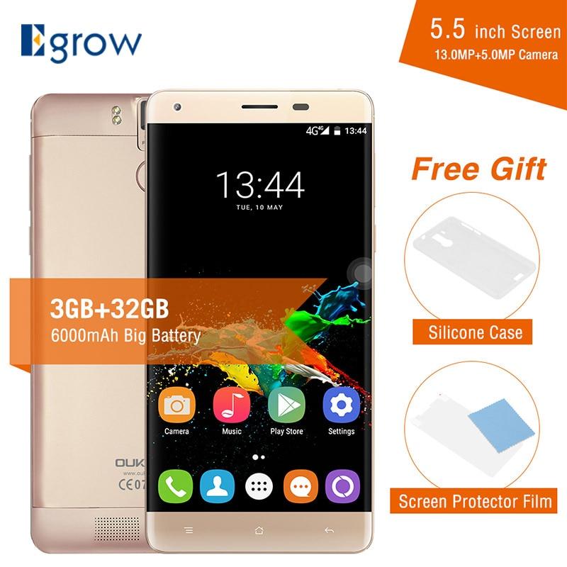 "bilder für Original Oukitel K6000 Pro 5,5 ""6000 mAh Octa-core handys MTK6753 Smartphone FHD Bildschirm 3G RAM 32G ROM 4G LTE Mobilen telefon"