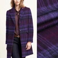 150 CM Geniş 500 G/M Mor Onay Kalın Alpaka Yün Kumaş için Sonbahar Kış Sıcak Elbise Dış Giyim Palto Ceket E576