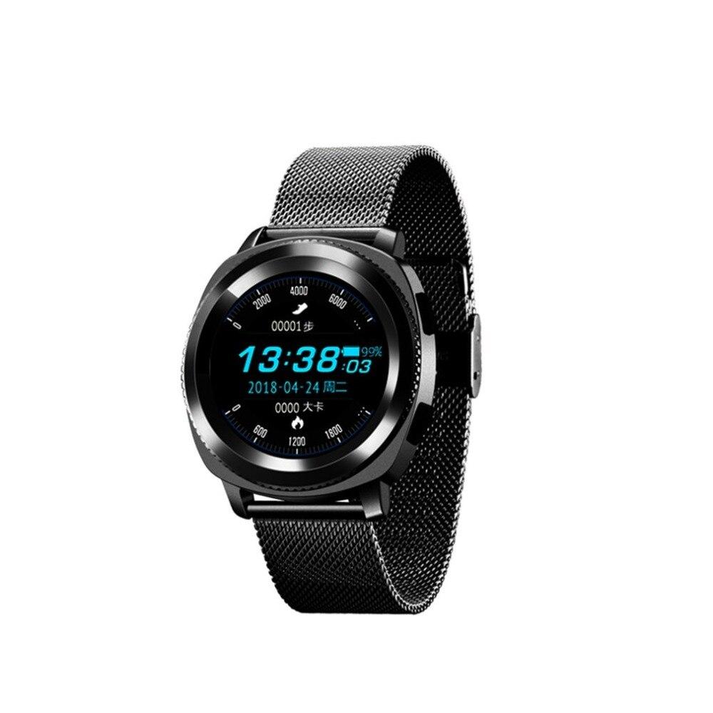 L2 IP68 Водонепроницаемый Спорт Смарт часы шаги сна монитор сердечного ритма нескольких видов спорта Bluetooth с Нержавеющаясталь группа