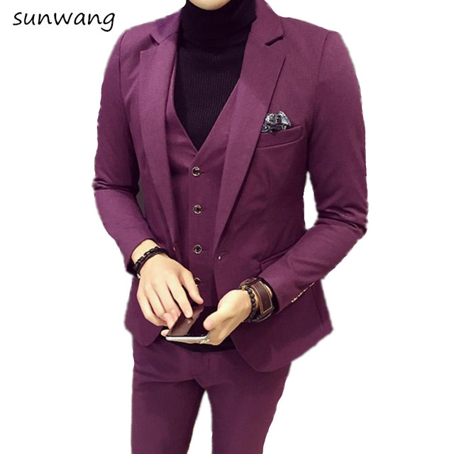 2017 Fashion Custom made Mens Designer Prom Purple dresses 2017 ...