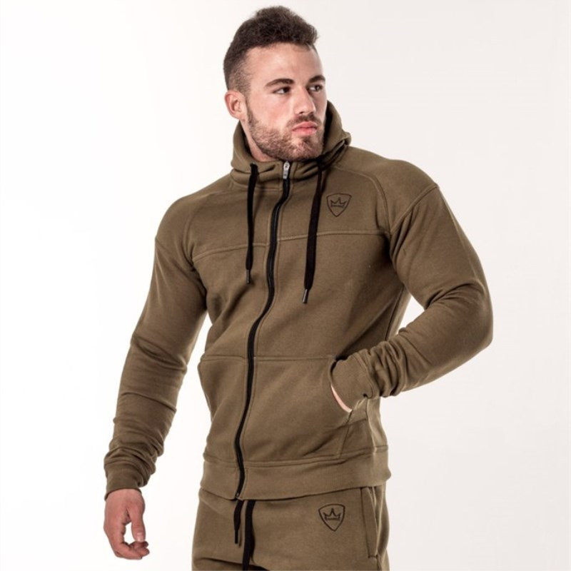 YEMEKE Winter New Mens Fashion Hoodies Fashion Leisure Pullover Fitness Bodybuilding Jacket Sweatshirts Sportswear Clothing