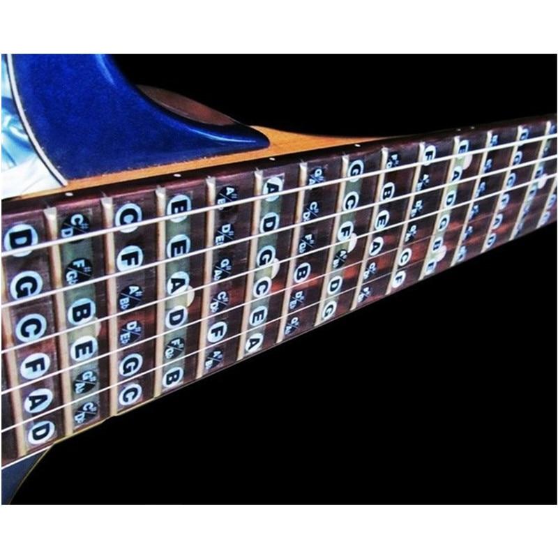 Alta calidad guitarra acústica ultra-delgada guitarra eléctrica placa para el dedo placas de escala musical pegatinas Partes de guitarra accesorios