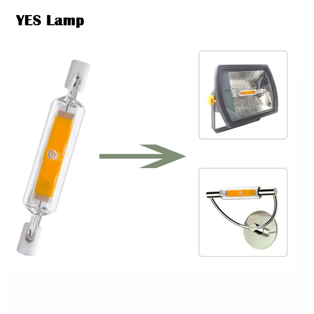 <font><b>R7S</b></font> <font><b>LED</b></font> Lamp COB Glass Tube AC220V 240V 78MM 8W 118MM 13W Replace Halogen Bulb J78 J118 Lamparda Spot Light image