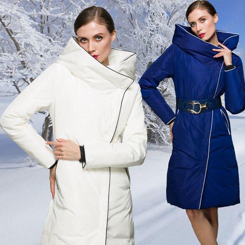 Winter   Coat   Women 2018 Winter Luxury European Style Women's Long   Down   Parkas Super White Duck   Down   Jacket Women   Down     Coat