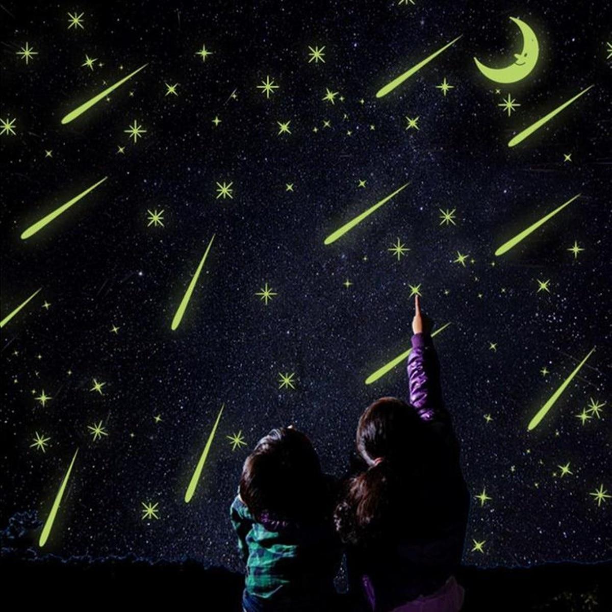 Meteor Shower Luminous Wall Stickers Livingroom Bedroom TV Wall Home Decor