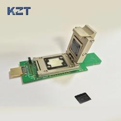 Sd-schnittstelle reader für eMCP162/BGA186 buchse/adapter zu USB--HDMI daten rückgewinnung mit Legierung clamshell programmierung adapter