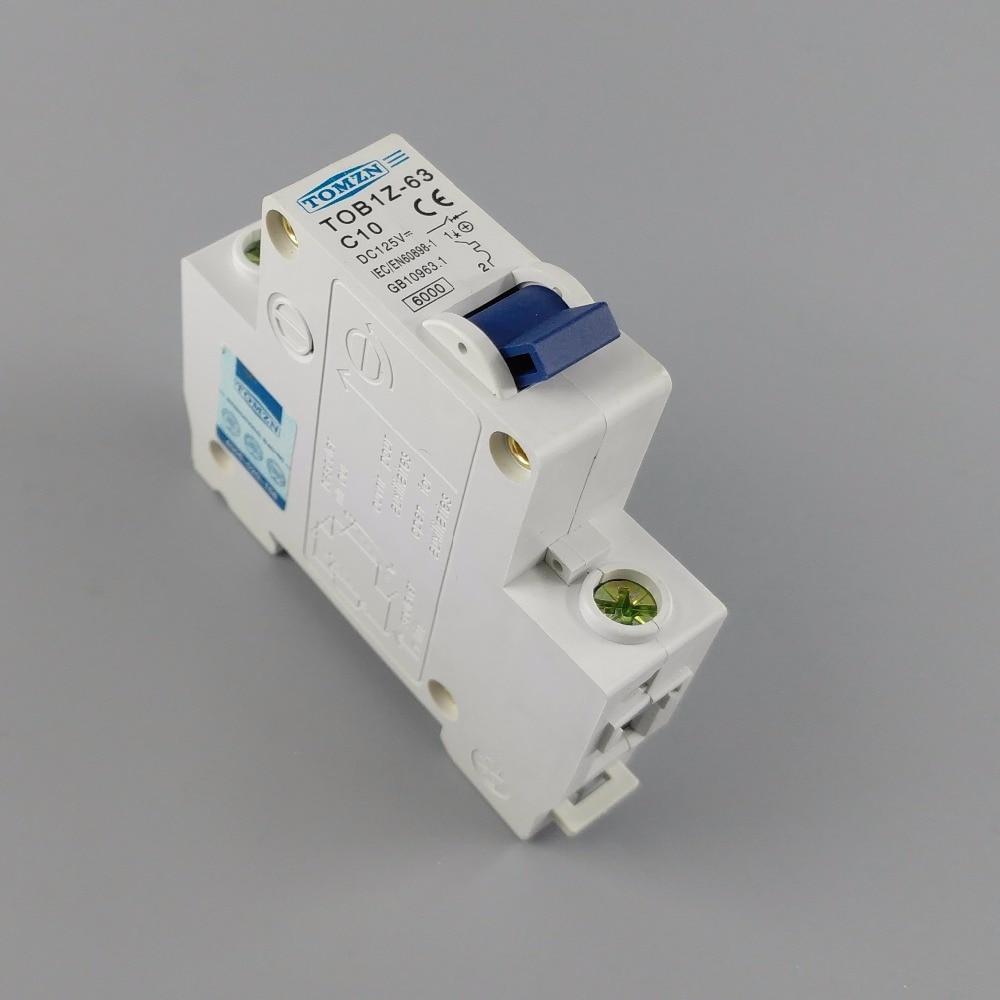 1P 10A DC 125V Circuit breaker MCB C curve цена